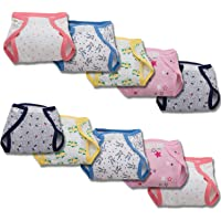 Baybee Reusable Fabric Diapers/Washable Cotton Diaper with Padded Absorption- Adjustable Cotton Diapers for Babies…