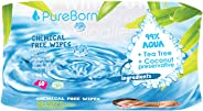 Pure Born Chemical Free Baby Wipes - Pack of 60 pcs