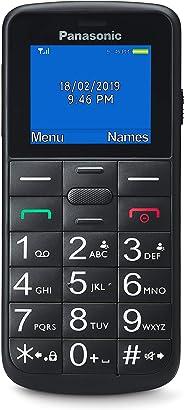Panasonic KX-TU110EXB- Teléfono Móvil Para Personas Mayores (Pantalla y Teclas Grandes, Botón SOS, Resistente a Golpes, Lint