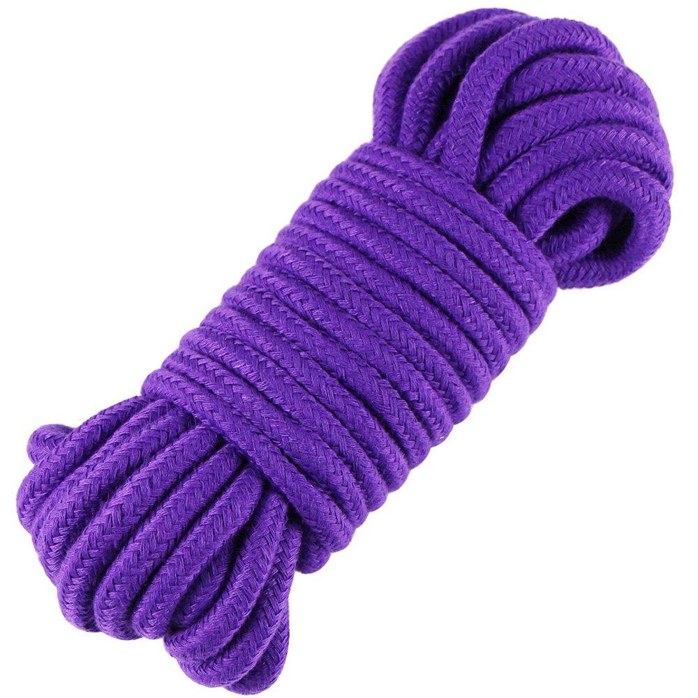 edgeam cordicella 8mm 10m intrecciato corda di cotone Lila