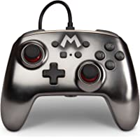 PowerA Enhanced Wired Controller for Nintendo Switch – Mario Silver, Gamepad, Wired Video Game Controller, Gaming…