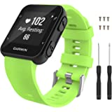 MoKo Watch Band Compatible with Forerunner 35, Soft Silicone Watch Band Sport Bracelet Strap with 6pcs Screws and 2pcs Screwd