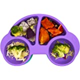 Qshare - Platos de silicona para bebé, una pieza, para bebés y niños, portátil, sin BPA, aprobado por la FDA, fuertes placas