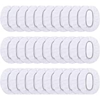 Cute Critters 100 Pack Clear Disposable Ear Protectors Waterproof Ear Covers for Hair Dye, Shower, Bathing