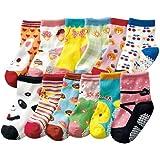 JT-Amigo Baby-Sock-12Pairs-Set3, Calzini Antiscivolo per Bambini e Neonati, Multicolore, 0 - 3 anni, Confezione da 12 Paia