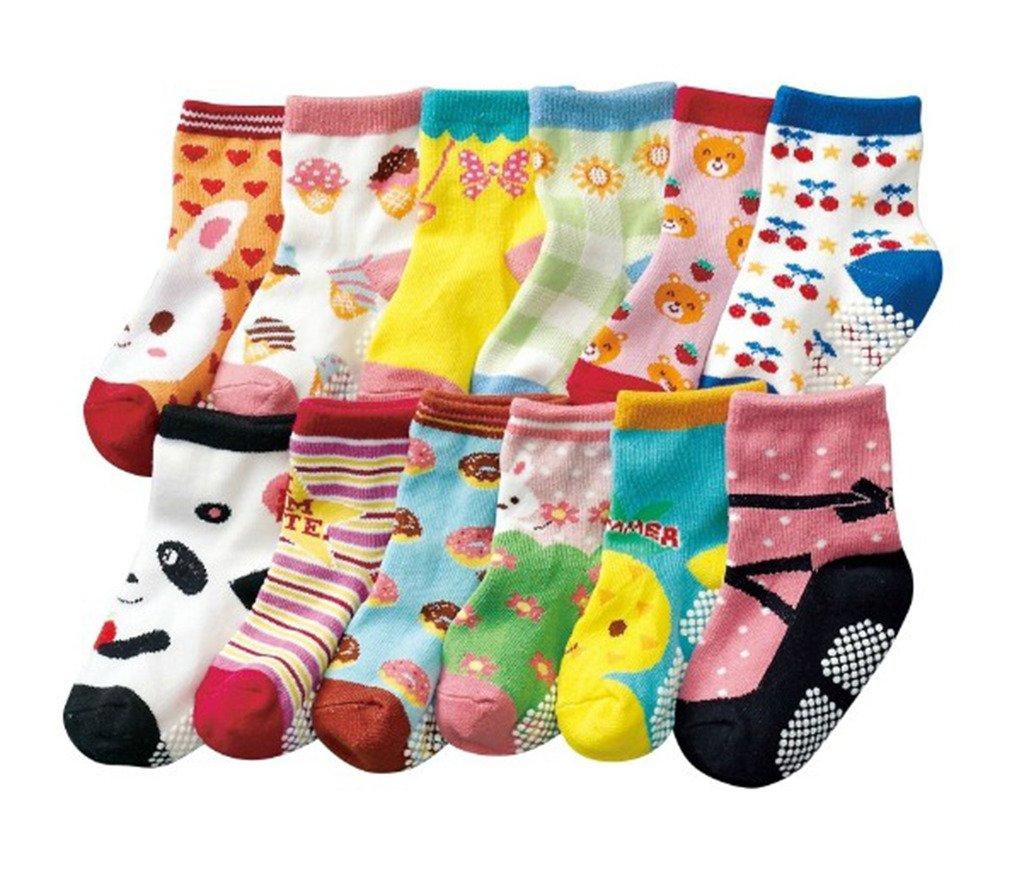 JT-Amigo Calcetines Antideslizantes para Bebés (Pack de 12 Pares) 1