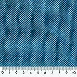 Donet Dekostoff schwer entflammbar Treviera CS Gardine Vorhang Stoff mit Leinenstruktur, Blau 573