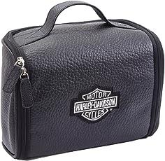 Harley Davidson Leather Hanging Toiletry Kit