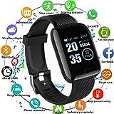 Smartwatch Fitness Tracker, Impermeabile IP67, con contapassi, monitoraggio del Sonno, contapassi, Orologio per Uomini, Donne e Bambini