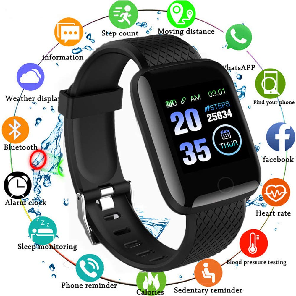 Reloj Smart Fitness Tracker, Reloj Inteligente a Prueba de Agua IP67 con Monitor de sueño con Contador de Pasos, Reloj… 1
