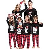 Abollria Pijamas Navidad para Familias Adultos Pijama Familiares Manga Larga Hombre Mujer Niños Niña,Suave Comodo y Agradable