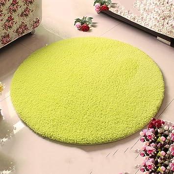 Runde Teppich amazon de wohnzimmerteppich runder teppich gepolsterte