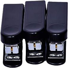 Kangaro Mini-10 Stapler - Pack of 3 for School or Office Use-Black