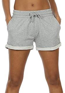 oodji Ultra Femme Short en Coton avec Cordon de Serrage