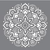 Rayher 38969000 szablon mandala, 30,5 x 30,5 cm, rozmiar motywu ok. 26,5 cm, poliester, wycinany laserowo, giętki, wielokrotn