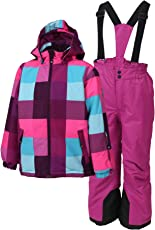 Color Kids Mädchen Schneeanzug Dikilu Ski Set Berry