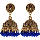Gold Plated Oxidised Bohemian Fancy Stylish Wedding Traditional Jhumki Jhumka Designer Collection Ethnic Earrings For Women A