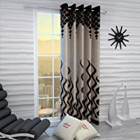 Home Sizzler 1 Piece Window Curtain - 5 Feet