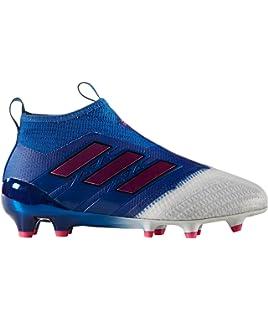 official photos 74e8b 7448b Adidas Ace 17+ Purecontrol FG Garçon Chaussures Football Bleu Blanc