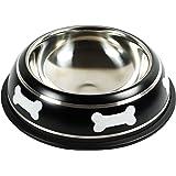 Rollmops Futternapf für Hunde   Edelstahl ø20cm   Rutschfest und Bemalt   500ml