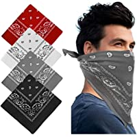 Keho Multifunctional Headwear Paisley Bandana – Cowboy Bandana Scarf Unisex Novelty Print Head Wrap Wristband for Yoga…