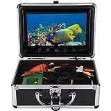"""Cámara de pesca submarina, buscador de peces portátil con monitor LCD de 9 """"y cámara HD resistente al agua de 1000tvl, cable"""