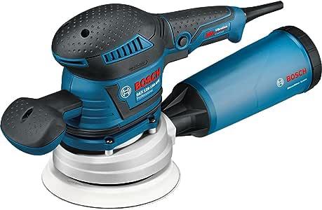Bosch Professional 060137B101 Ponceuse Excentrique GEX 125-150 AVE (400 W, Diamètre de Disque : 125/150 mm, dans une L-BOXX) Bleu