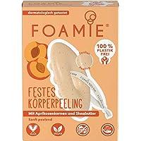 Foamie Festes Duschgel mit Aprikosenkernen und Sheabutter, Peeling-Effekt, 100% vegan, plastikfrei, für samtweiche Haut…