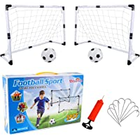 Dreamon 2er Set Kinder Fußballtore mit Fußball ,Tore und Pumpe Fussball Interaktiv Minitore Spielzeug Sportspaß für…