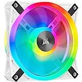 Corsair iCUE QL120 RGB, Ventilador LED RGB de 120 mm, 34 LED RGB Direccionables Individualmente, De Hasta 1500 RPM, Silencios