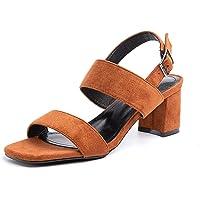 Sandalen Damen mit Absatz Sandaletten Plateau Sommer Knöchelriemen Sommerschuhe Frauen Blockabsatz Slingback Elegant…