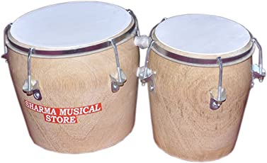 Sharma Musical Store Two Piece Stylish Wooden Bongo