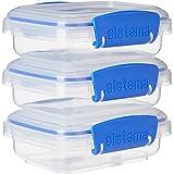 Sistema Förvaringsbox clip-it 200 ml 3 stycken, plast, transparent, 11,5 x 9 x 11,5 cm, 3-enheter