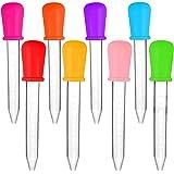 Liquide Pipettes, 8 Pièces 5ml Plastique Pipette, Compte Gouttes en Silicone, Transparent Pipette Plastique, pour la Médecine