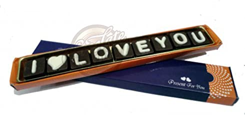 Lovely I Love You Chocolate Message - Delicious and Cute