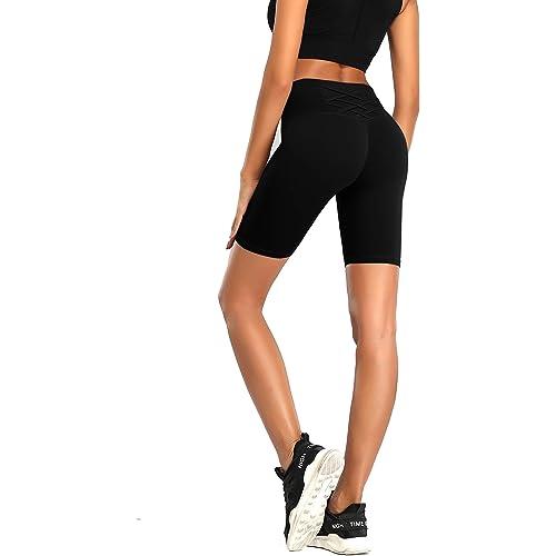 QueenDer Leggings Fitness Donna Yoga Sportivi Leggins Palestra Vita Alta Elastico Allenamento Lungo Pantaloni Pantaloncini per Corsa Running Cycling Ginnastica