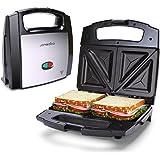 Aigostar Lamo - Smörgås Brödrost Tillverkare, 800 W, ej -pinne beläggning, dubbelsidig bakning med konstant temperatur, LED-k