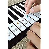Pegatinas Piano para 37/49/54/61/88 Teclas,Pegatinas pianos teclados transparentes y extraíbles pegatina teclado electrónico