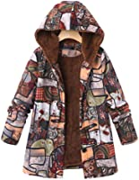 Logobeing Abrigo Invierno Mujer Chaqueta Suéter Jersey Mujer Cardigan Mujer Tallas Grandes Outwear Floral Bolsillos con Capucha de Impresión Caliente Sudadera