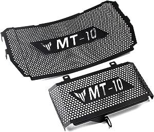 Kühlerabdeckung Edelstahl Kühlerschutzgitter Schutzgitter Kühlergitter Wasserkühler Radiator Guard Für Yamaha Mt10 Mt 10 2016 2020 Auto