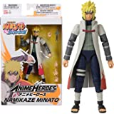 Bandai Naruto Shippuden-Action Figure Anime Heroes 17 cm-NamikazeMinato-36905, Colore, 36905