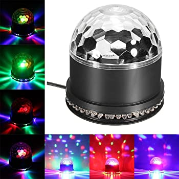 Amzdeal Lumière Musique Lampe d ambiance Ampoule de scène 12W RGB Couleur  changant Éclairage scénique e78693bda9eb