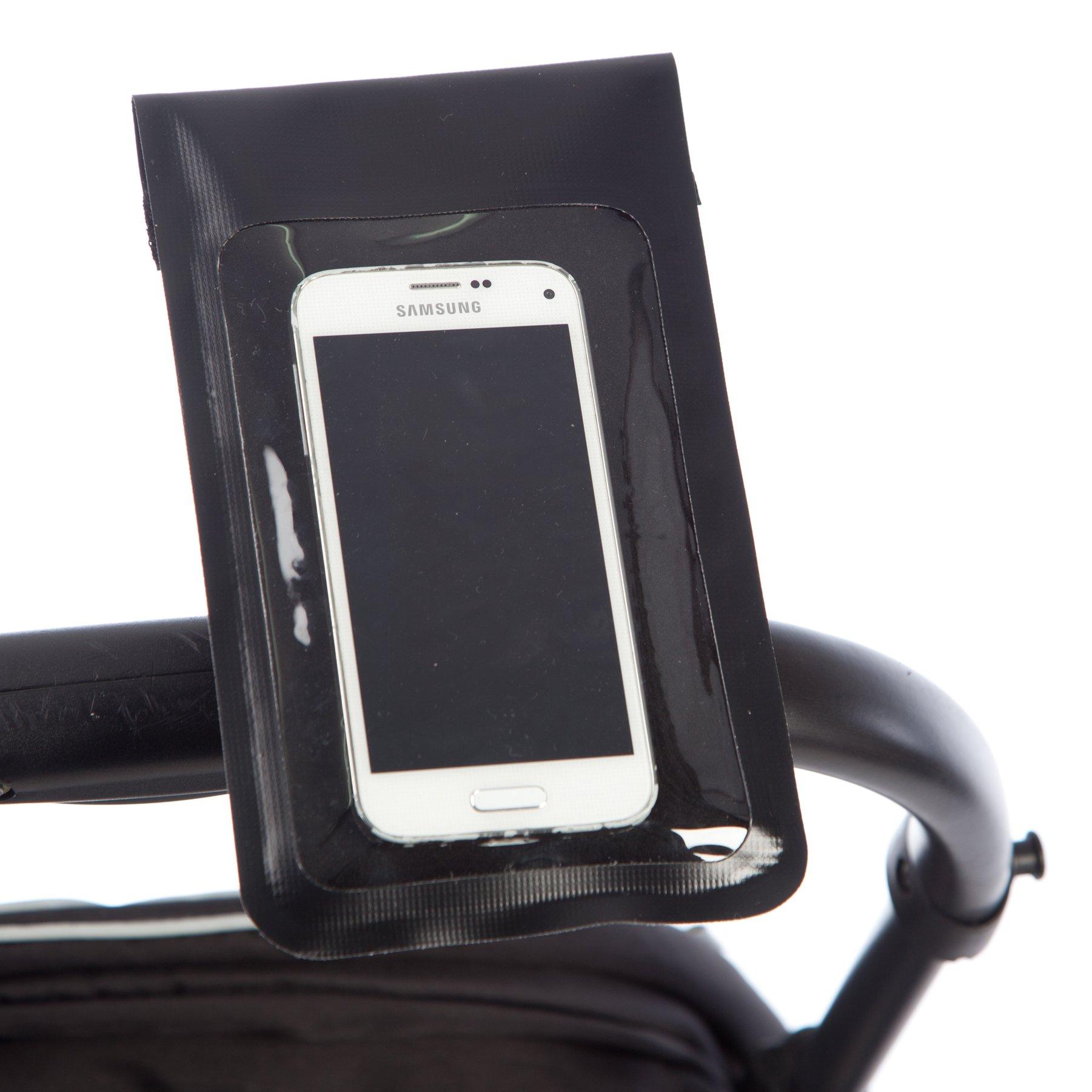 BTR Custodia per telefono cellulare/smartphone da passeggino/carrozzina. Impermeabile.