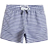 MaaMgic Little Boys' Beach Trunk Toddler Swim Shorts Animal Patterned Boardshorts Lightweight Beach Shorts Adjustable Waist G
