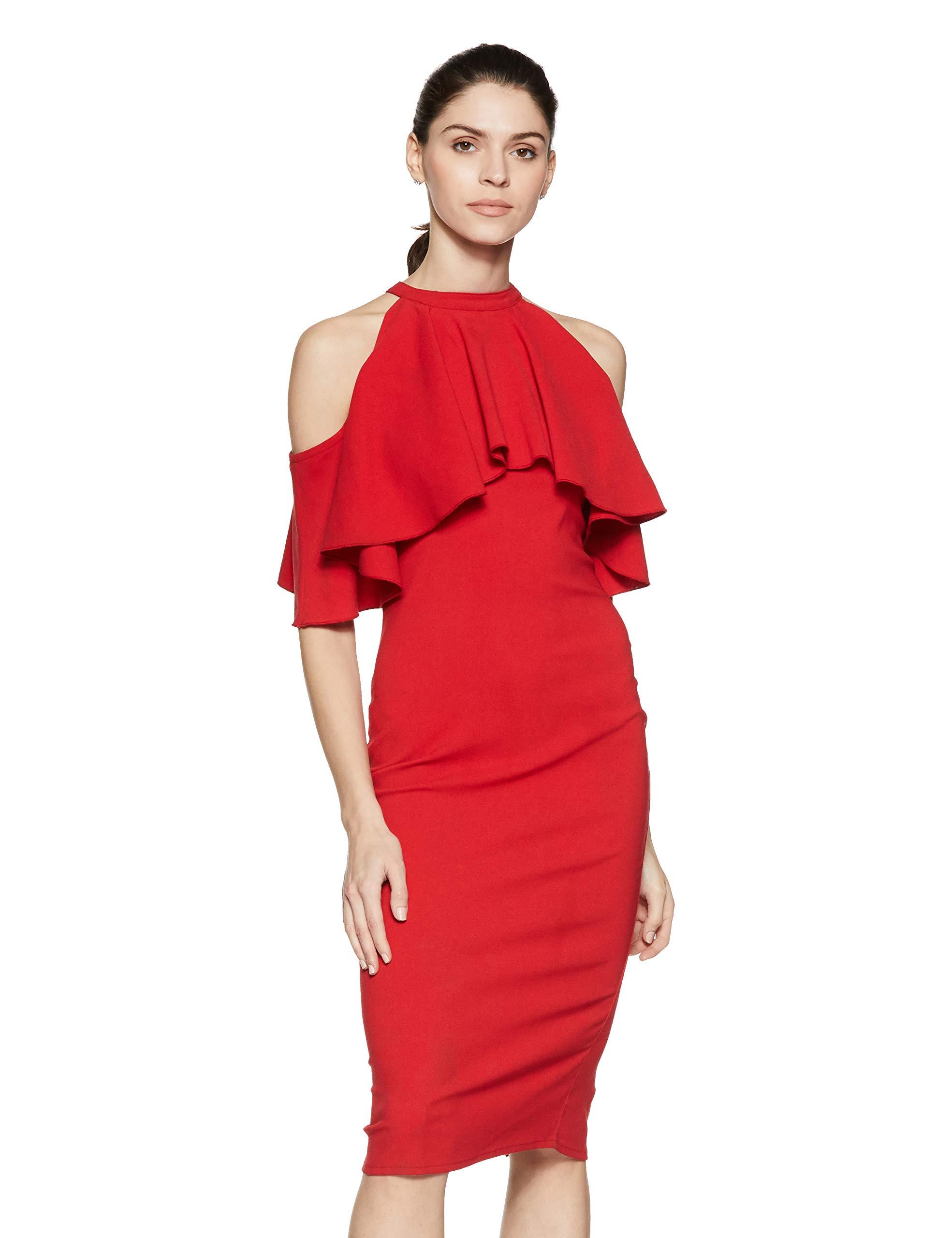 Stalk Buy Love Women's Georgette Trina Cold Shoulder Dress
