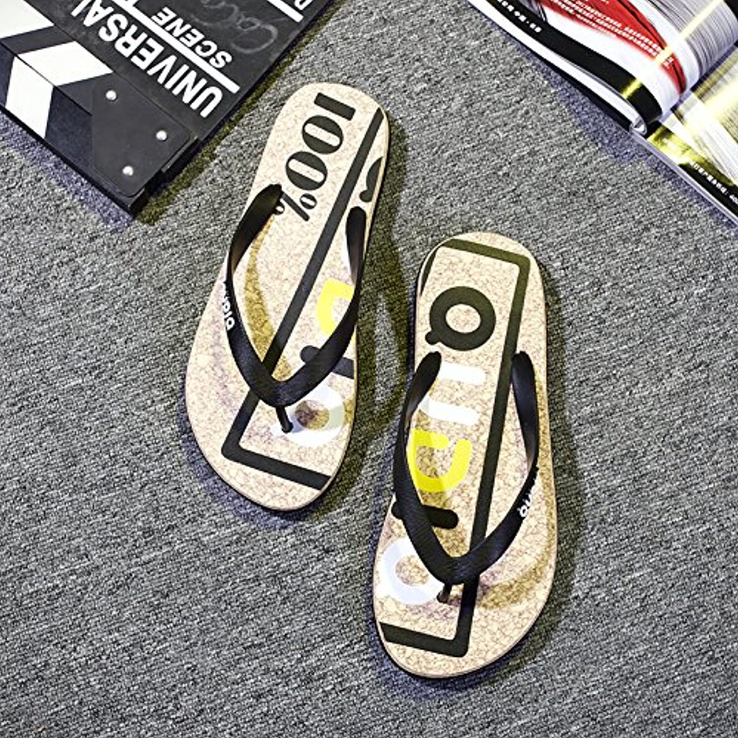fankou The Trend That The Drag and Beach Male Summer Fashion Beach and Slippers Non-Slip Grip Foot Wear Students and - B07C88TT92 - 29d1f2
