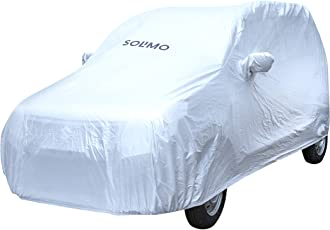 Amazon Brand - Solimo Maruti WagonR Waterproof Car Cover (Silver)