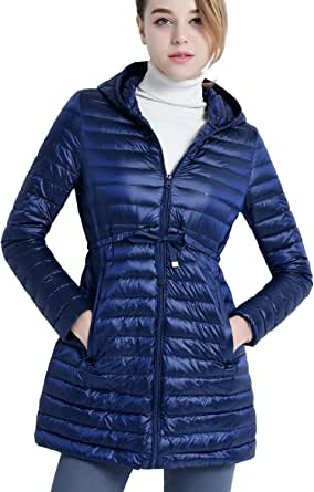 CHERRY CHICK Women's PACKABLE Down Puffer Coat with Carry Bag