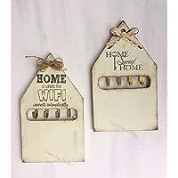 Portachiavi da parete in legno a forma di casetta, stile shabby chic - Idea regalo personalizzabile