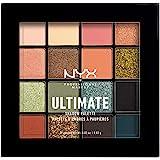 NYX Professional Make Up Ultimate Utopia Oogschaduwpalet, geperste pigmenten, veganistisch, 16 tinten, mat, metallic, kleur: